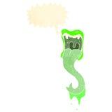 呼喊的妖怪嘴减速火箭的动画片 免版税库存图片
