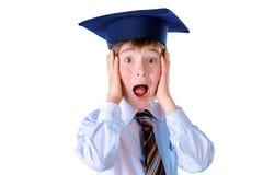 呼喊的学生男孩 图库摄影