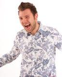 呼喊的年轻人 免版税库存照片