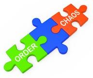 命令混乱显示组织或未组织起来 向量例证