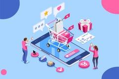 命令网上购物顾客关心信用卡概念 皇族释放例证