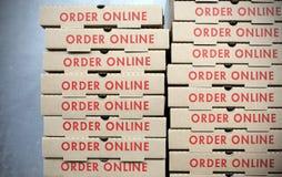 命令网上食物交付 免版税库存图片