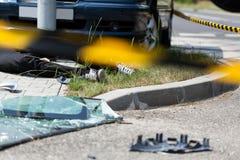 致命的车祸 免版税库存图片