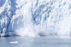 延命菊冰川产犊在阿拉斯加#1 免版税图库摄影