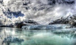 延命菊冰川在阿拉斯加` s冰河海湾国家公园 免版税库存照片