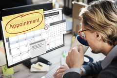 任命计划计划者的日程表做名单概念 免版税库存图片