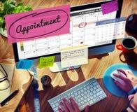 任命计划计划者的日程表做名单概念 图库摄影