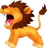 咆哮狮子的动画片 免版税库存照片