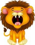 咆哮狮子的动画片 免版税库存图片