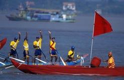 水和中秋节在金边柬埔寨 免版税库存图片