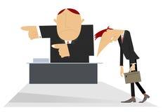 主任和哀伤的雇员 免版税库存图片