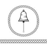 绳索和响铃 库存图片