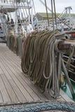 绳索和套索桩 免版税库存图片