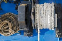 绳索和尖端杆细节  免版税库存照片