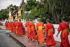 和尚在老挝 库存图片