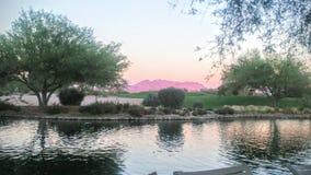 水和山从菲尼斯亚利桑那 库存照片