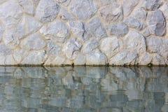 水和岩石纹理  免版税库存图片