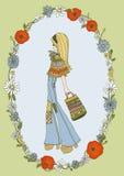 和平与爱情女孩 皇族释放例证