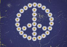和平与爱情 库存照片
