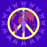 和平人世界 免版税库存照片