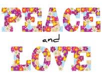 和平和爱花 向量例证
