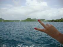 和平在船上 库存图片