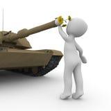 和平坦克 免版税库存图片