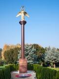 和平好天使雕象在公园 免版税库存照片