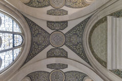 和平宫殿的天花板,海牙 免版税库存照片