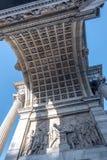 和平弧在米兰 米兰, Arco della步幅 库存照片