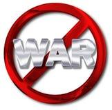 和平或反战争概念 免版税库存照片