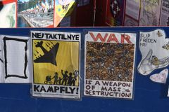 和平手表在哥本哈根 库存图片