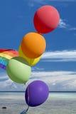 和平旗子气球 免版税库存照片