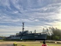 和平时期的军舰 库存图片
