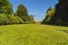 和平曲拱在Sempione公园,米兰,伦巴第,意大利, 13-05-20 库存照片
