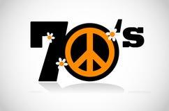 和平标志七十 库存例证