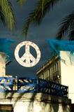 和平标志伊维萨岛 免版税图库摄影