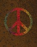 和平标志在纹理背景的圆点 免版税库存照片