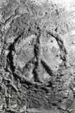 和平标志由灰制成 免版税库存图片