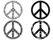 黑和平标志 免版税库存图片