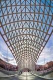 和平桥梁在库那河的在第比利斯 免版税库存图片