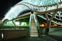 和平桥梁在第比利斯 图库摄影