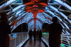 和平桥梁是一座弓型步行桥,窃取a 免版税图库摄影