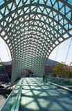 和平桥梁,第比利斯,佐治亚 免版税库存图片