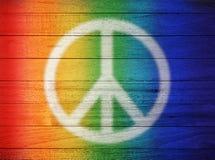 和平爱彩虹背景 免版税图库摄影