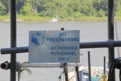 和平的三文鱼研究禁区 库存照片