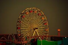 和平的公园在日落的圣塔蒙尼卡 库存照片