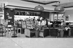 和平的咖啡咖啡馆内部 免版税库存图片