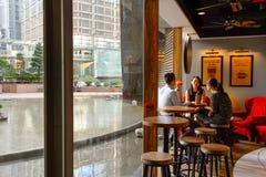 和平的咖啡咖啡馆 免版税库存照片
