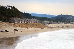 和平的城市海岸 免版税图库摄影